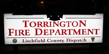 Torrington FD Illuminated Cabinet Sign